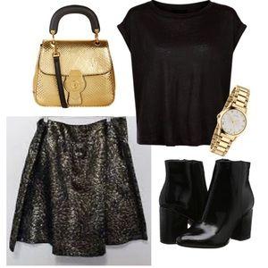 ✨Lane Bryant• Metallic Party Skirt ✨